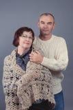 Portrait of elderly couple, studio Stock Photos