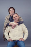 Portrait of elderly couple, studio Royalty Free Stock Photography