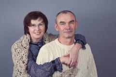 Portrait of elderly couple, studio Royalty Free Stock Photos