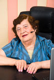 Portrait of elderly customer service royalty free stock photography