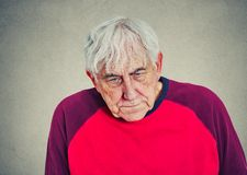 Portrait of an elderly depressed man Royalty Free Stock Photos