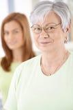 Portrait of elderly female Stock Photography