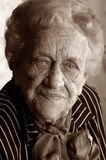Portrait of an elderly lady Royalty Free Stock Image