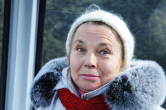 Portrait of the elderly lady. Stock Photos