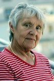 Portrait of an elderly lady, Mrs. Royalty Free Stock Photography