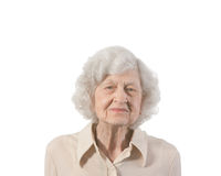 Portrait elderly lady Royalty Free Stock Photo