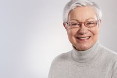 Portrait of elderly lady smiling Stock Images