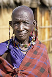 Portrait of elderly Maasai woman Stock Image