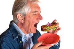 Portrait of an elderly man Stock Photos