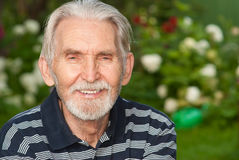 Portrait of elderly man Royalty Free Stock Images