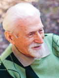 Portrait of an elderly man. In the outdoors Stock Photo
