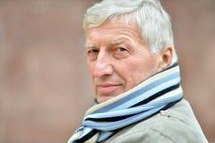 Portrait of  elderly man Royalty Free Stock Photography