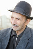 Portrait of elderly man in hat Royalty Free Stock Images