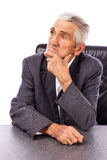 Portrait of an elderly man looking away in deep thought Royalty Free Stock Photography