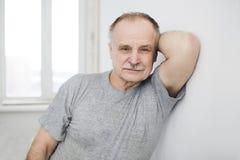 Portrait of the elderly man Stock Images