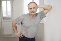 Portrait of the elderly man Royalty Free Stock Images