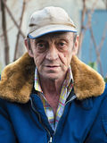 Portrait of a elderly man outdoors closeup Royalty Free Stock Photography