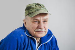 Portrait of the elderly man Stock Images
