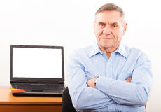 Portrait of elderly man  smiling Stock Image