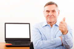 Portrait of elderly man  smiling Royalty Free Stock Photo