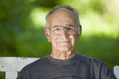 Portrait Of A Elderly Man. Smiling At The Camera Royalty Free Stock Image