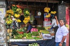 Portrait of elderly market vendor Stock Image