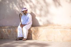 Portrait of an elderly Omani man. Royalty Free Stock Images
