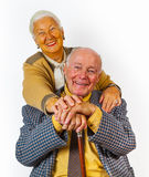 Portrait of  elderly senior couple Royalty Free Stock Photo