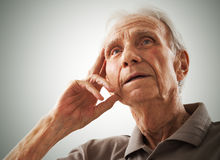Portrait of elderly senior men Stock Image