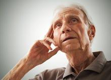 Portrait of elderly senior men Stock Image