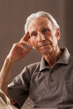 Portrait of elderly senior men Stock Photos