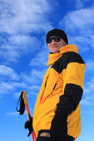 Portrait of an elderly skier Royalty Free Stock Photography