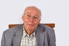 Portrait of elderly smart confident Royalty Free Stock Image