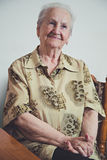 Portrait of an elderly smiling woman Royalty Free Stock Images