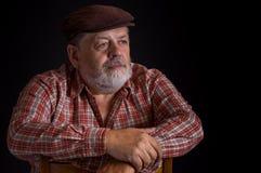 Portrait of elderly Ukrainian peasant Stock Photos