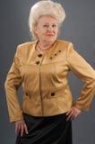 Portrait of the elderly woman. Stock Photo