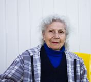 Portrait of an elderly woman Stock Image
