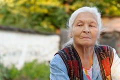 Portrait of the elderly woman Stock Photos