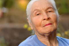 Portrait of the elderly woman Royalty Free Stock Image