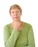 Portrait of elderly woman stock images
