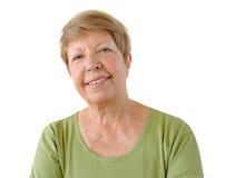 Portrait of elderly woman stock photo