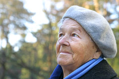 Portrait of an elderly woman Stock Photos