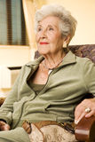 Portrait of an elderly woman Royalty Free Stock Image