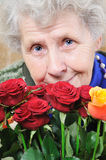 Portrait elderly woman Royalty Free Stock Photography