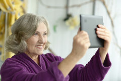 Portrait of elderly woman Royalty Free Stock Image