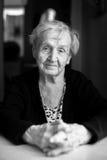 Portrait of an elderly woman. Stock Photo