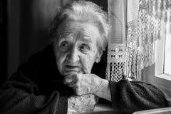 Portrait of an elderly woman. Stock Photos