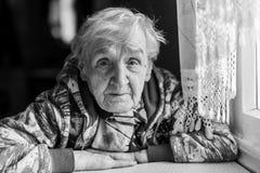 Portrait of an elderly woman. Royalty Free Stock Photos