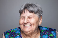 Portrait of an elderly woman Stock Images