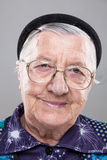 Portrait of an elderly woman with glasses Royalty Free Stock Photography